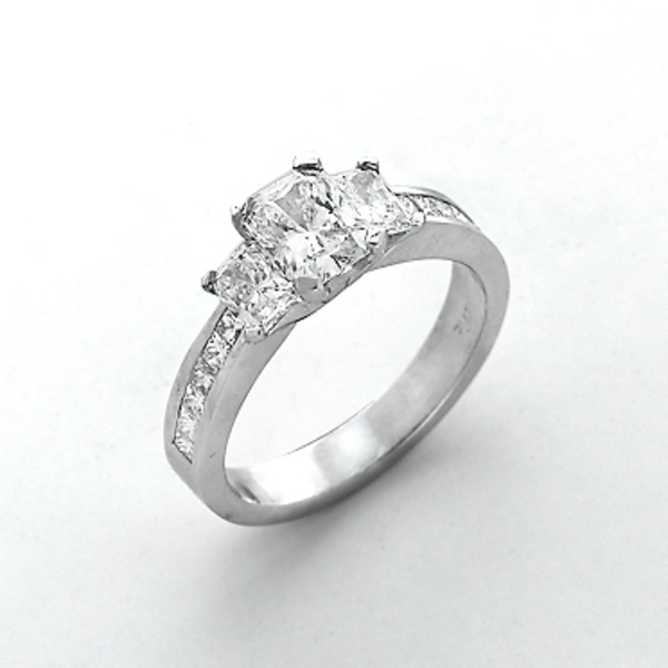 Louis the Goldsmith | silver diamond engagement ring