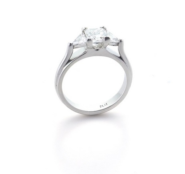 Louis the Goldsmith | dainty silver engagement ring