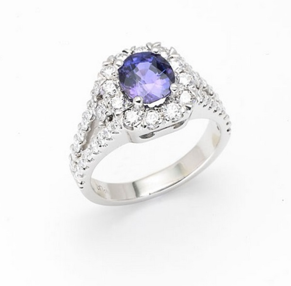 Louis the Goldsmith | blue stone engagement ring